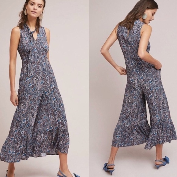 Anthropologie Dresses & Skirts - NWT  Maeve Asonia Floral Ruffle Jumpsuit - SZ OP